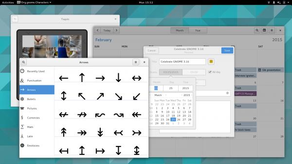 [图]Gnome 3.16 界面预览