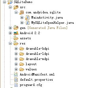 Android中数据存储--采用SQLite存储数据及在SDCard中创建数据库