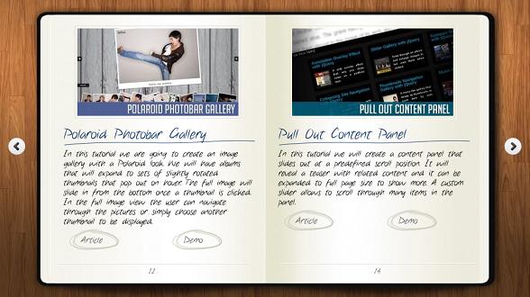 6个超炫酷的HTML5电子书翻页动画