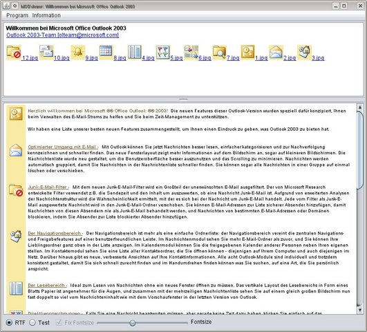 MSGViewer 1.6 发布,Microsoft Outlook MSG 文件展示