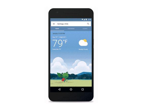 有一种关怀叫谷歌觉得你冷:Google更新Android版本天气系