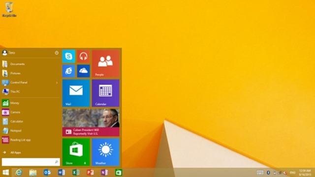 微软推送Windows 8.1 RT Update 3,带来开始菜单
