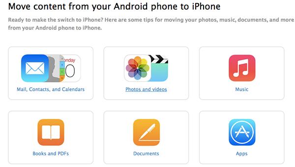 苹果出了个指南教你怎么从Android向iOS迁移数据