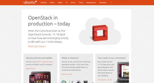 Ubuntu 官网改版了-新设计更加简洁