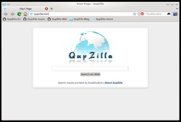 QupZilla Linux Browser