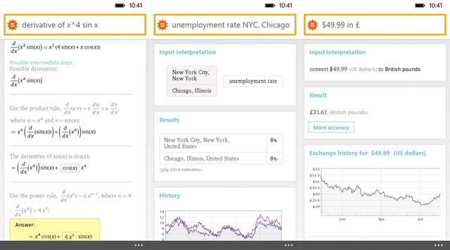 知识型计算引擎Wolfram Alpha应用登陆WP8.1和Win8.1