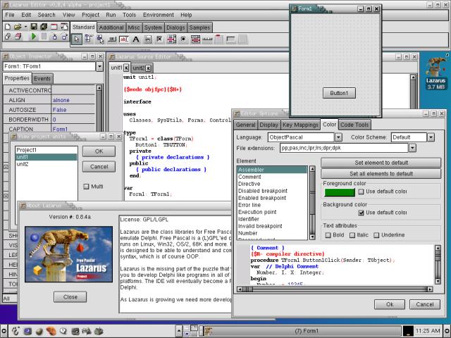 面向对象的Pascal 集成开发环境(IDE),Lazarus 1.0.2 发布
