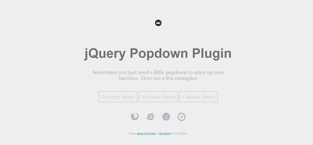 jQuery Popdown Plugin