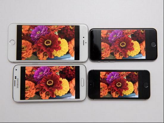 iPhone 6/Plus/5s/三星S5谁的屏幕更好?