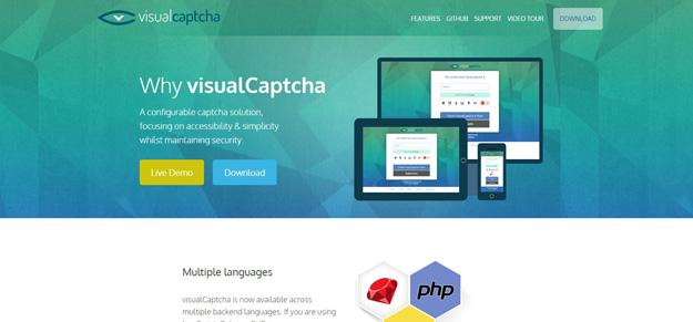 jQuery 验证码插件:Visual Captcha