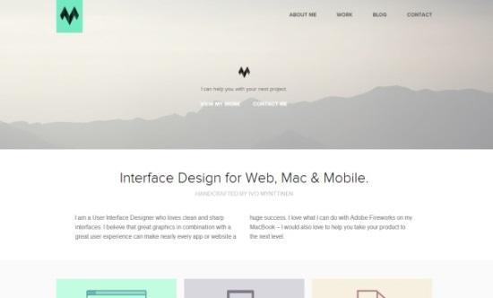 40个新鲜的扁平化设计(Flat Design)的示例