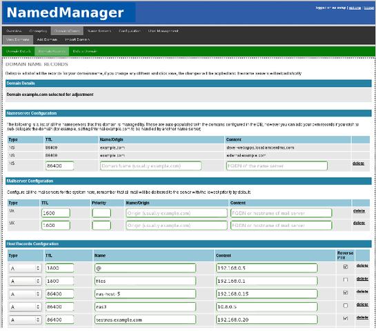 NamedManager - Web的DNS管理系统