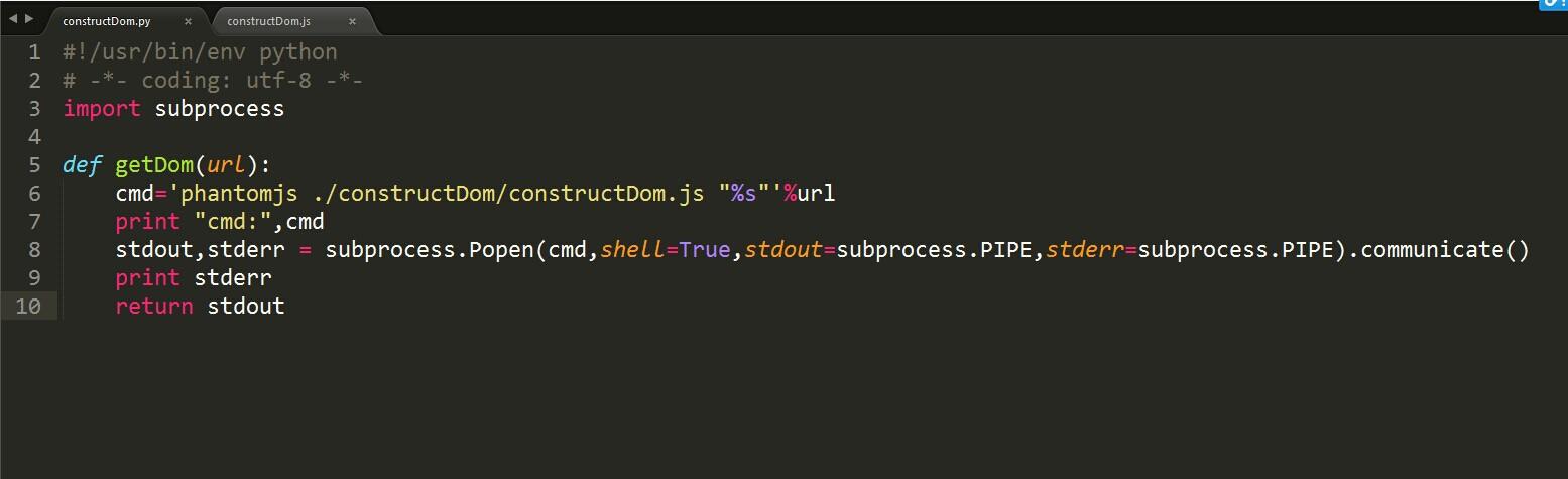 使用python+phantomjs抓取动态页面
