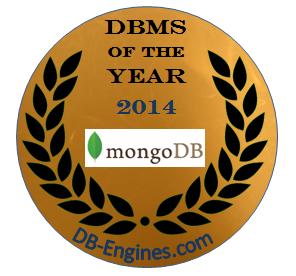 2014 年年度最受欢迎数据库管理系统 - MongoDB