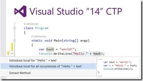 微软 Visual Studio 14 CTP2 发布