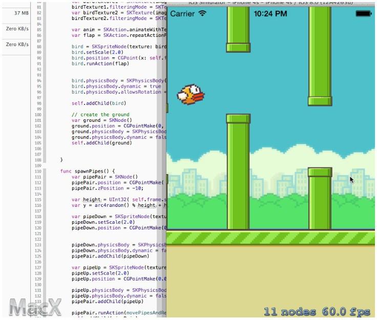 不到24小时!开发者用 Swift 语言复制 Flappy Bird