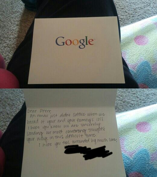 面试前妹妹过世,美国男子收到谷歌的慰问信
