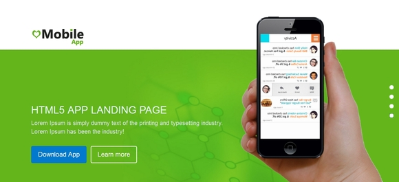Mobile App - html5 templates free