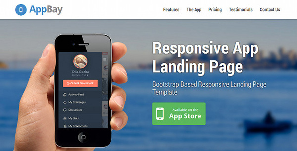 AppBay - Free One Page App Template