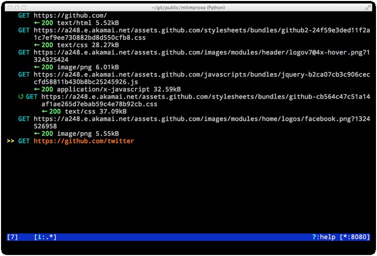 支持SSL的HTTP代理 Mitmproxy
