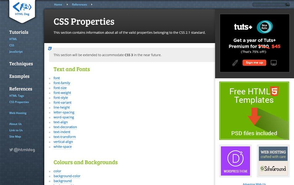 20+个最棒的 CSS 在线参考网站