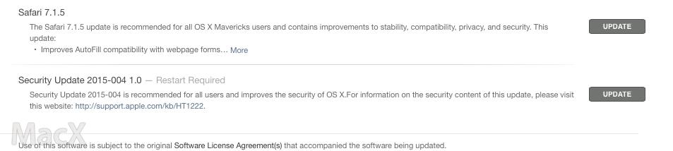 Safari 和 OS X 安全更新发布, 修复多个重要漏洞