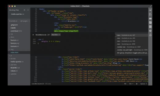 Adobe为Web设计人员推出开源文本编辑器Brackets