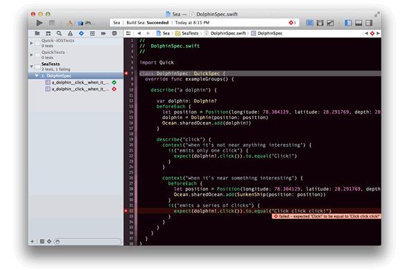 Swift 开发测试框架:Quick