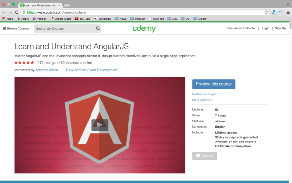 best resources and tutorials to learn AngularJS - learn-angularjs