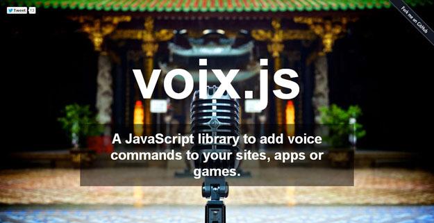 5个语音控制JavaScript开发库