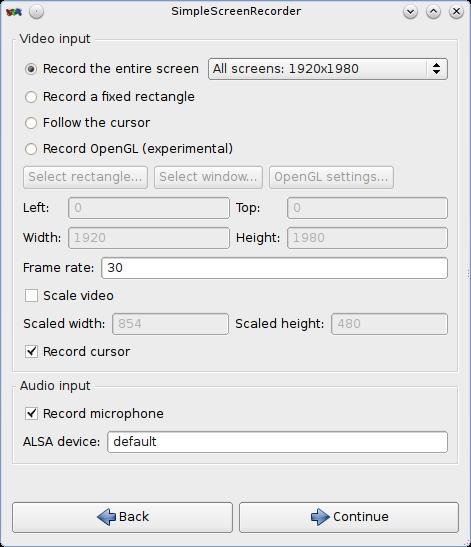 屏幕录制软件:SimpleScreenRecorder
