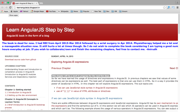 best resources and tutorials to learn AngularJS - learningangularjs