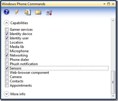 开发WP7项目的好工具: Windows Phone Commands