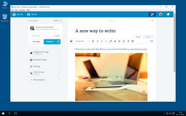 WordPress.com 推出新版 Windows 桌面应用