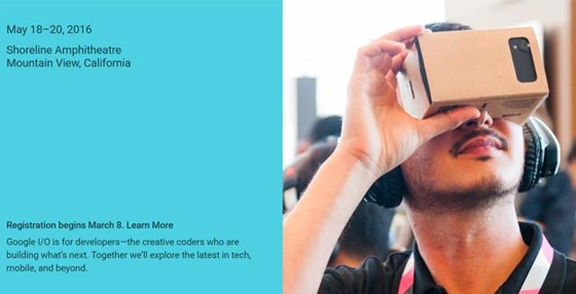 谷歌I/O开发者大会将于3月8日开放注册