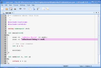 一个开发人员的文本编辑器:Editra