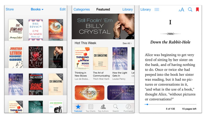 苹果发布新版 iBooks & iTunes U,设计上更扁平