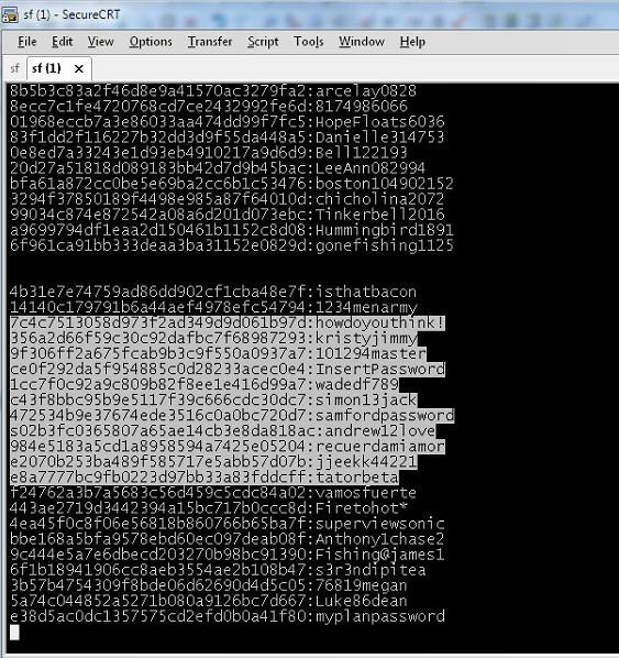用户密码薄如纸