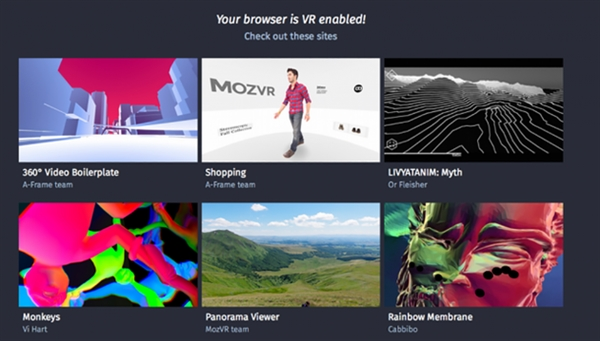 Firefox联手Chrome合作开发网页VR标准