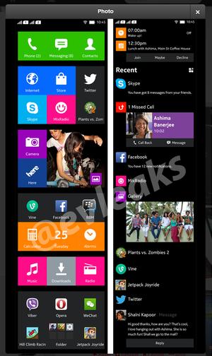 诺基亚Android手机界面曝光:类似WP8