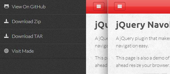 10个响应式的jQuery导航菜单资源