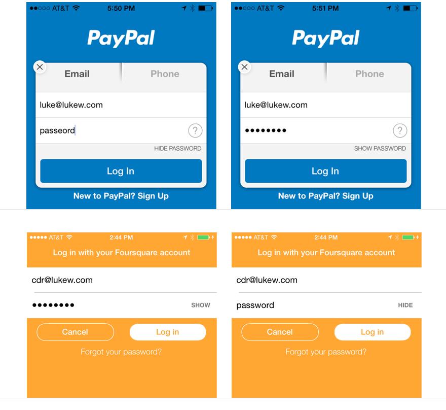 让用户在输入密码时看到明文吧