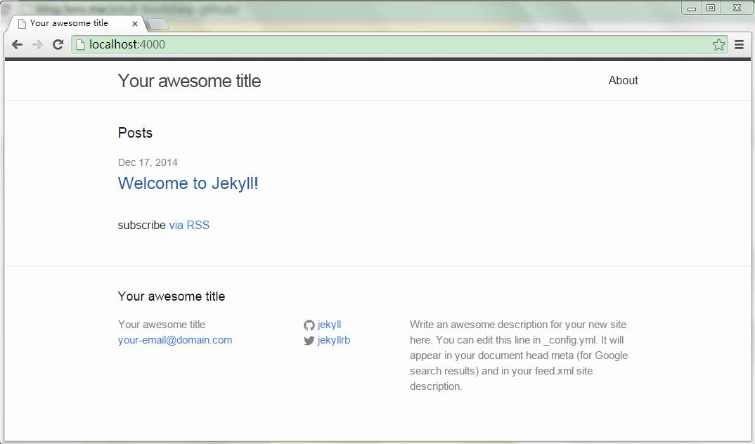 Windows上安装Jekyll