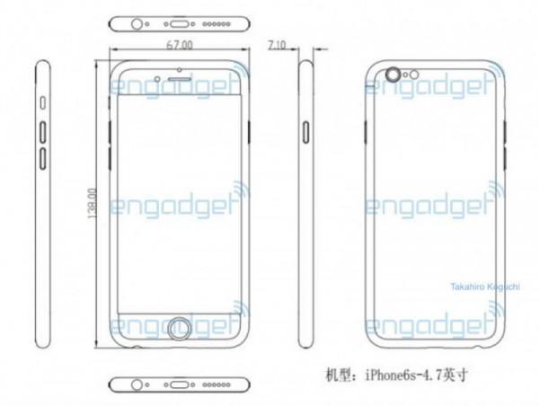 iPhone 6s设计图曝光 再次确认厚度增加0.2毫米