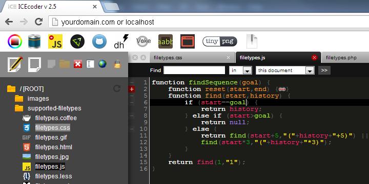 基于 Web 的 IDE - ICEcoder