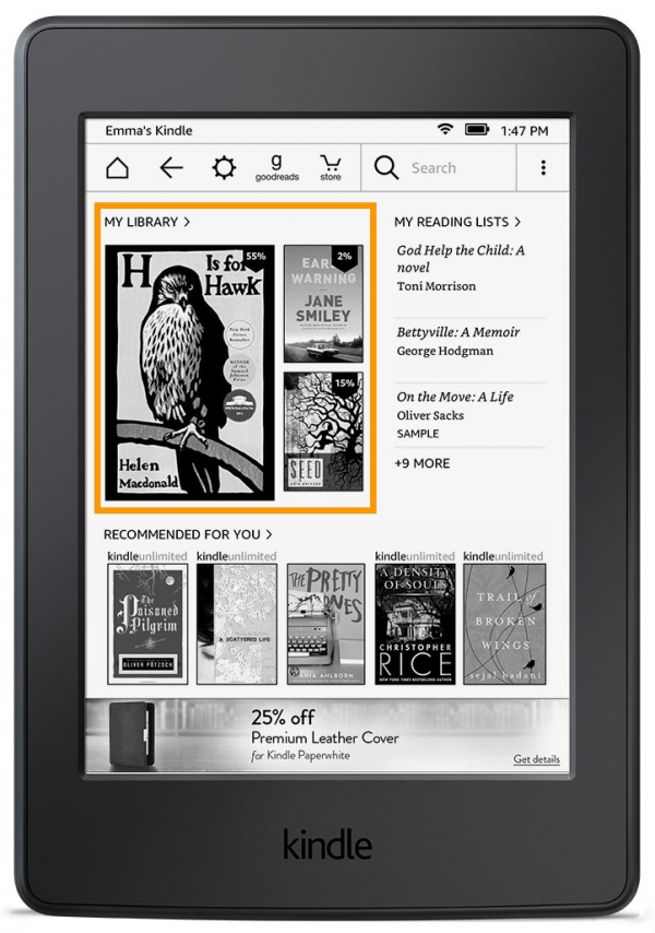 亚马逊Kindle终于获得全新用户界面