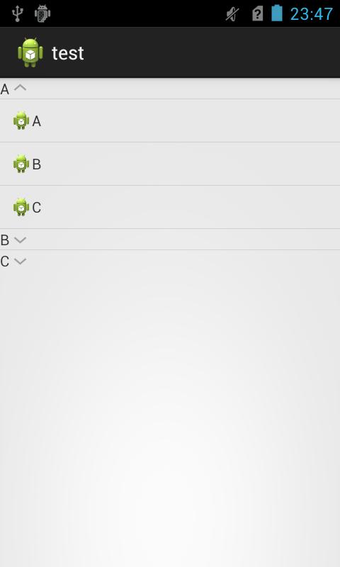Android ExpandableListView简单例子