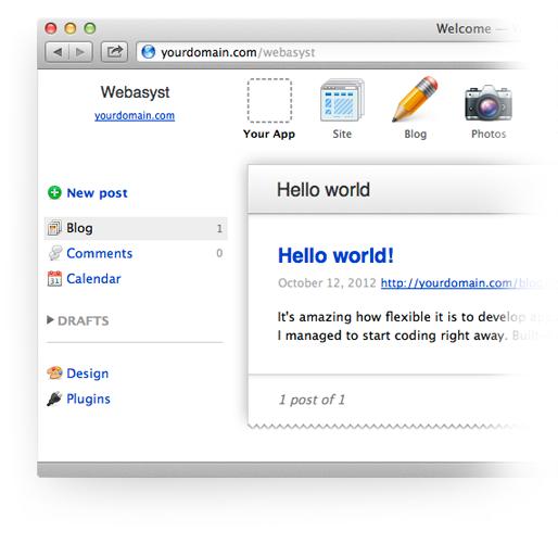 Webasyst:一个开源的PHP框架/平台