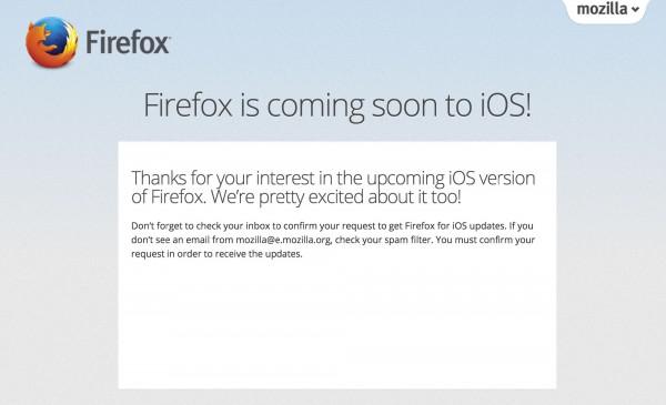 Mozilla开始寻找用户测试iOS版Firefox浏览器