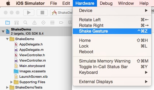 iPhone摇一摇示例代码:ShakeDemo